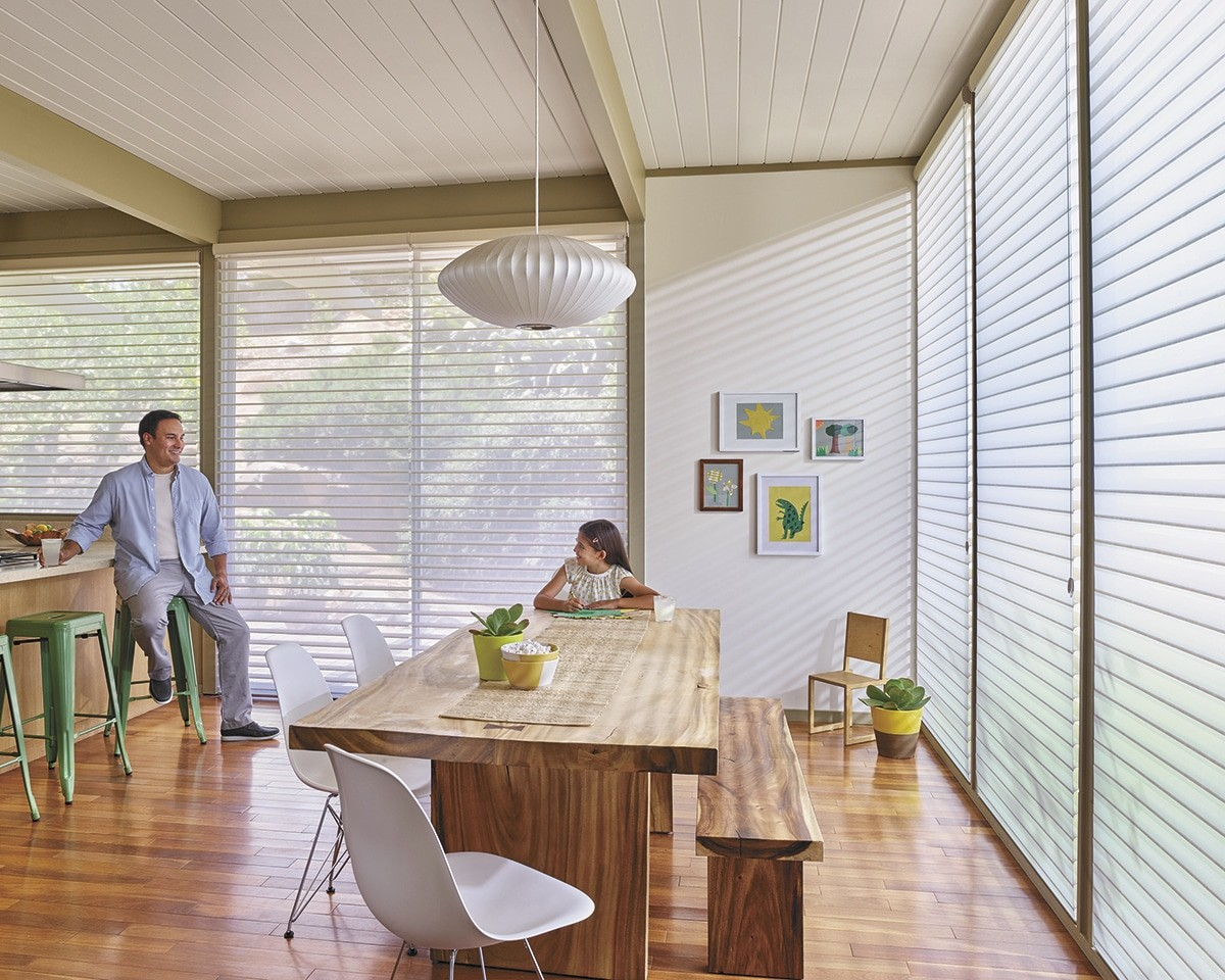 Silhouette Shades Kitchen area window shades - Spread sunlight deep into the room.