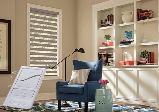 Zebra Blinds Remote Control — Zebra Blinds Remote Control — Motorized Blind - You operate the shade using a hand held remote or from your mobile phone.