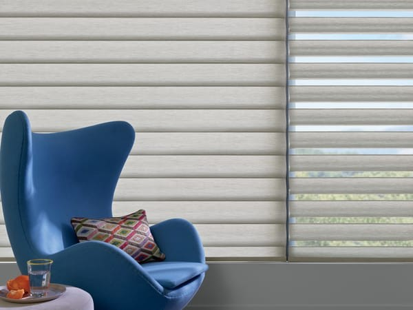 Pirouette Window Covering Privacy — You flatten the vanes for a smooth fabric elegance and full privacy inside. Get Sheer View with Privacy