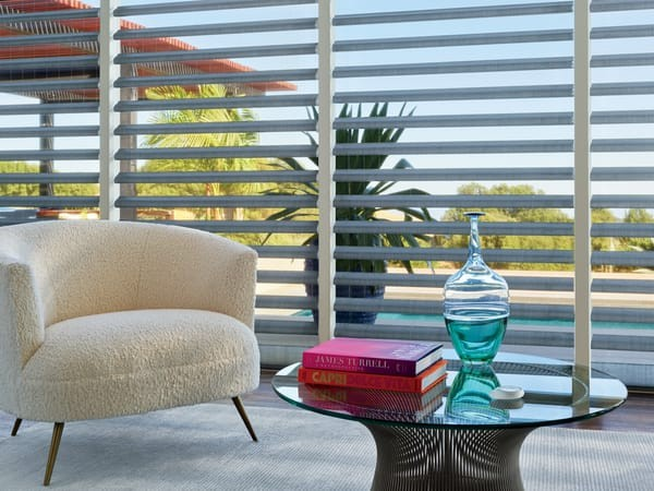 Pirouette Blind Clearview Sheer — ClearView® sheer fabric is a specialized black sheer that provides a superior view-through. Get the Best View
