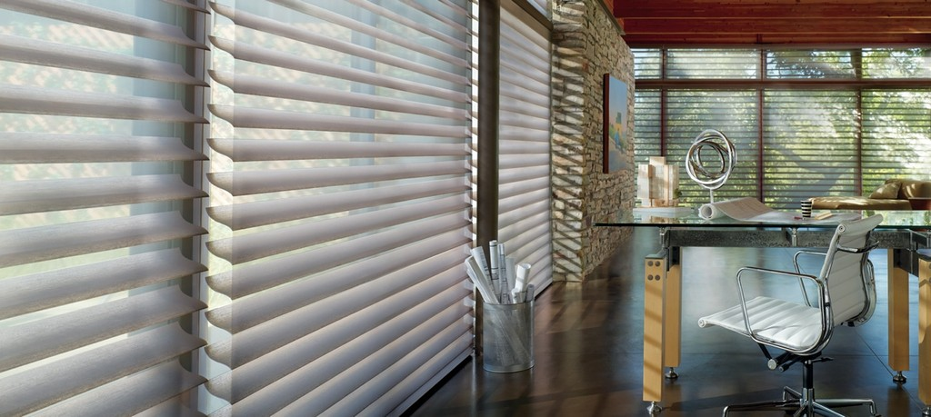 Silhouette Shades sheer shades - S-Shape fabric vanes streamline the looks of translucent layers of fabric.
