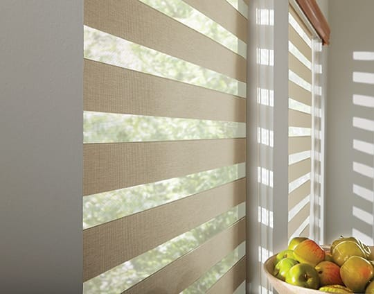 Zebra Blinds Sheer Bands — Allow air to flow easily