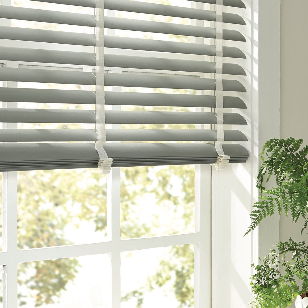 "Window Vinyl Blinds Family Room - Window Vinyl Blinds Family Room - Easy-to-clean, 2"" slats, Vinyl Blinds are available in a wide selection of on-trend colors"