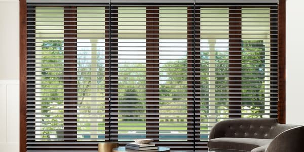Silhouette Shading Clearview Option — Superior view-through with light control. A black rear sheer fabric allows more view in and out