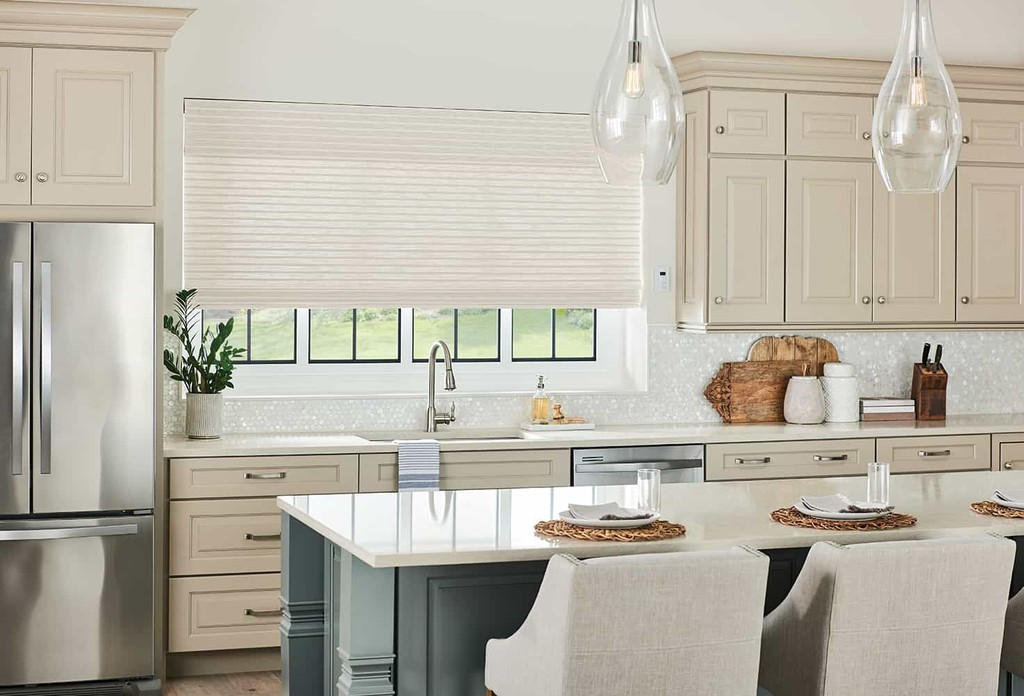 Bamboo Blind Kitchen Liner — Beautiful shade brings warmth to your kitchen —Privacy liner transmits light and safeguards from prying eyes