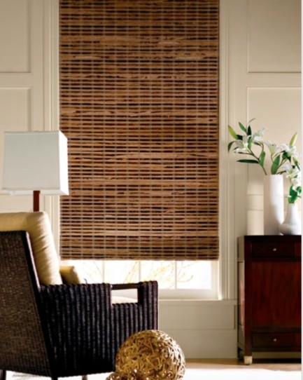 Blind Bamboo Wood Weave — A woven design shade that lends unique looks to your windows — blocks sun and imparts warmth to your décor - cozy