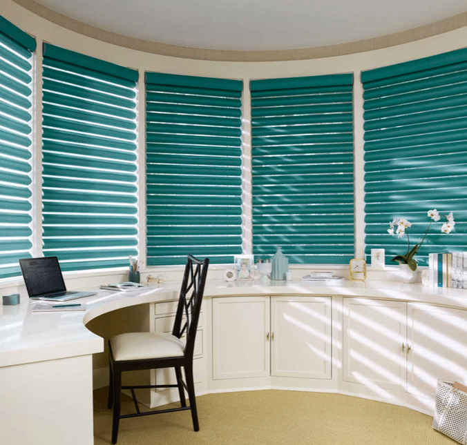 Pirouette Shades Office Area Window Shade - Shade controls the glare