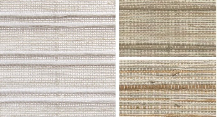 Natural Blind Woven Stick — Fibres in modern earth tones weaved with handcrafted hyacinth strips — Add texture & tapestry-like design warmth