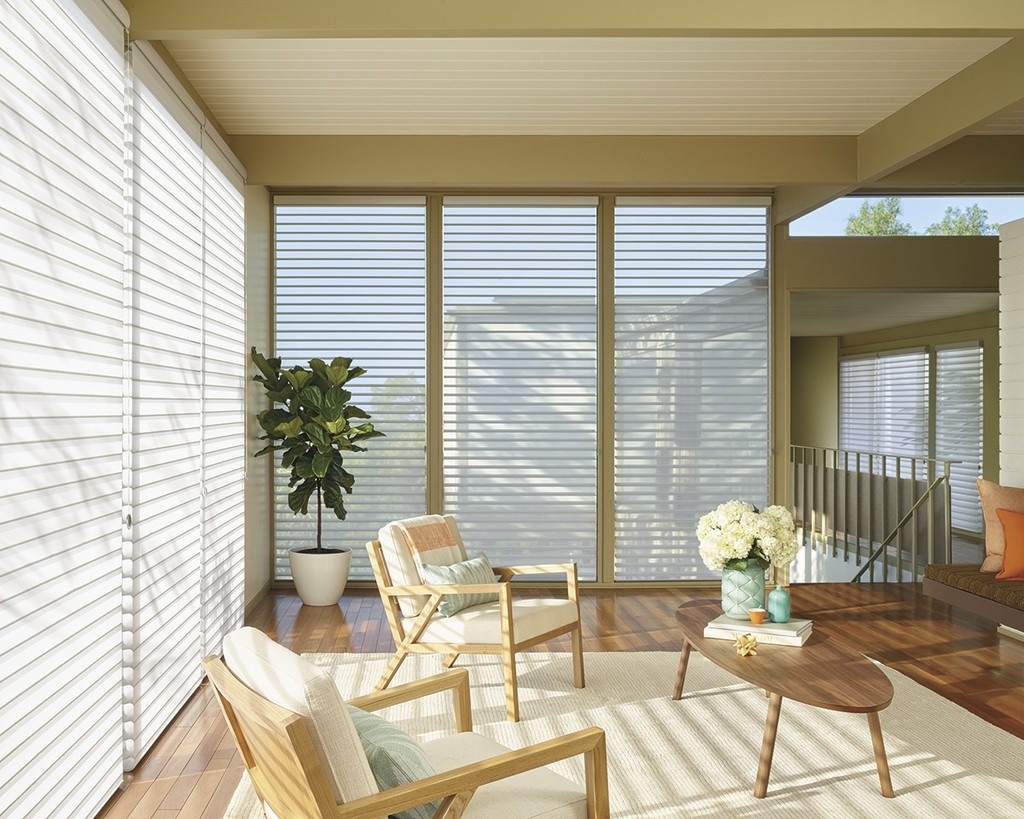 Silhouette Shading Living Room window shades - Fill your room with natural light