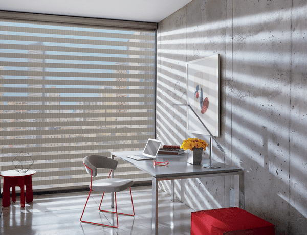 Zebra Blinds Light Filtering - Choose light filtering fabric for shades and make your room light, bright and airy. Add a few splashes of accent colour