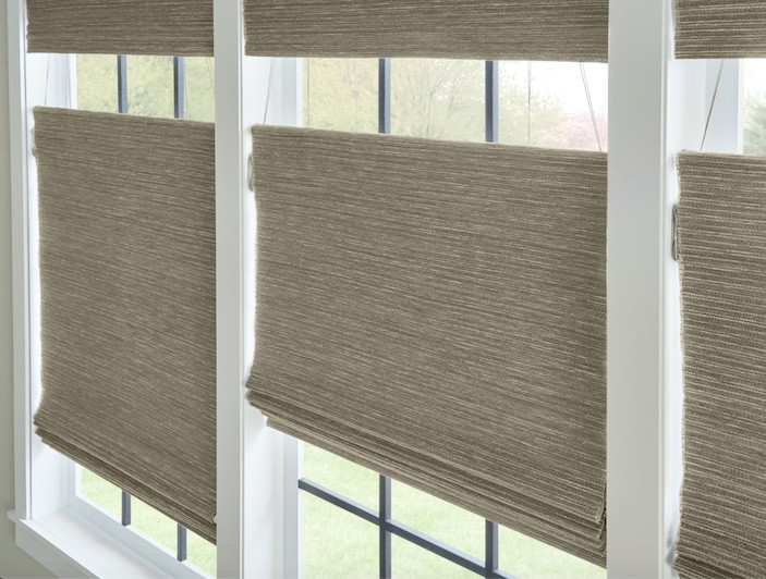 Woven Wood TopDown Blind — The ability to control shades both from top and bottom is a cherished feature. Infuse your interior with warmth
