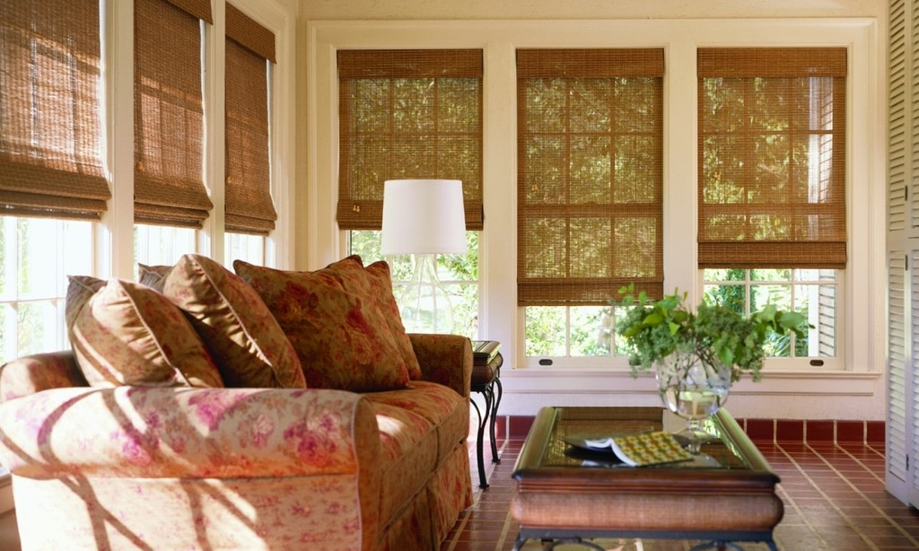Woven Wood Shades – Filter lots of light and prevent harsh sun rays