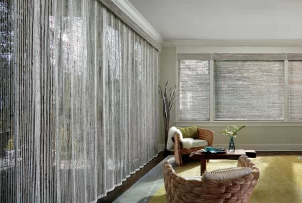 Woven Blind Sheer Shade — What better way to refresh your family room — a sheer blind making your family room space glow with light and view
