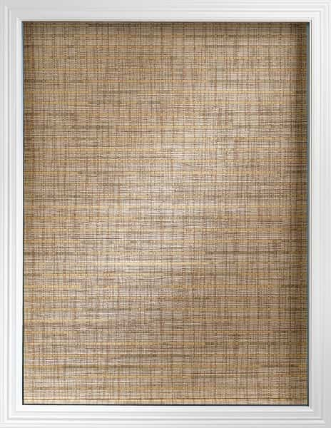 Woven Wood Shade Modern — The fabric cascades from the front of the headrail — Bring in a little color and contrast