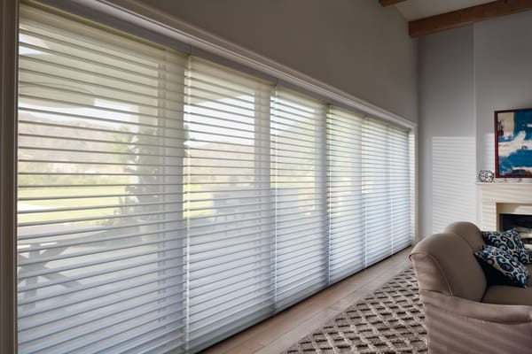 Silhouette Calgary Windows Shading — Blinds suited for large expanse windows in the Calgary area - wide-open view-through, 10 feet or more