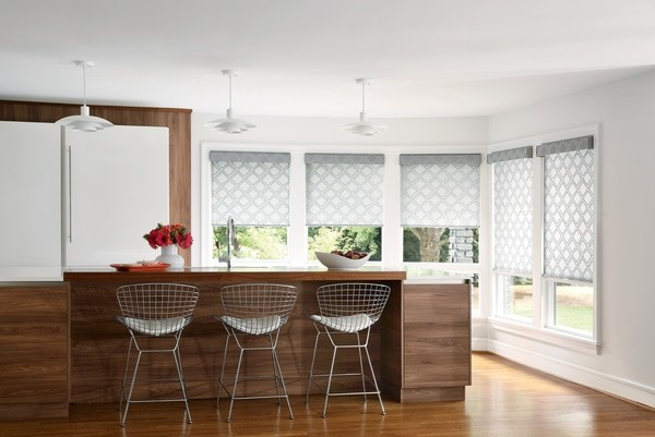 Roller Shades Kitchen Light - Elegant shades for open concept home design