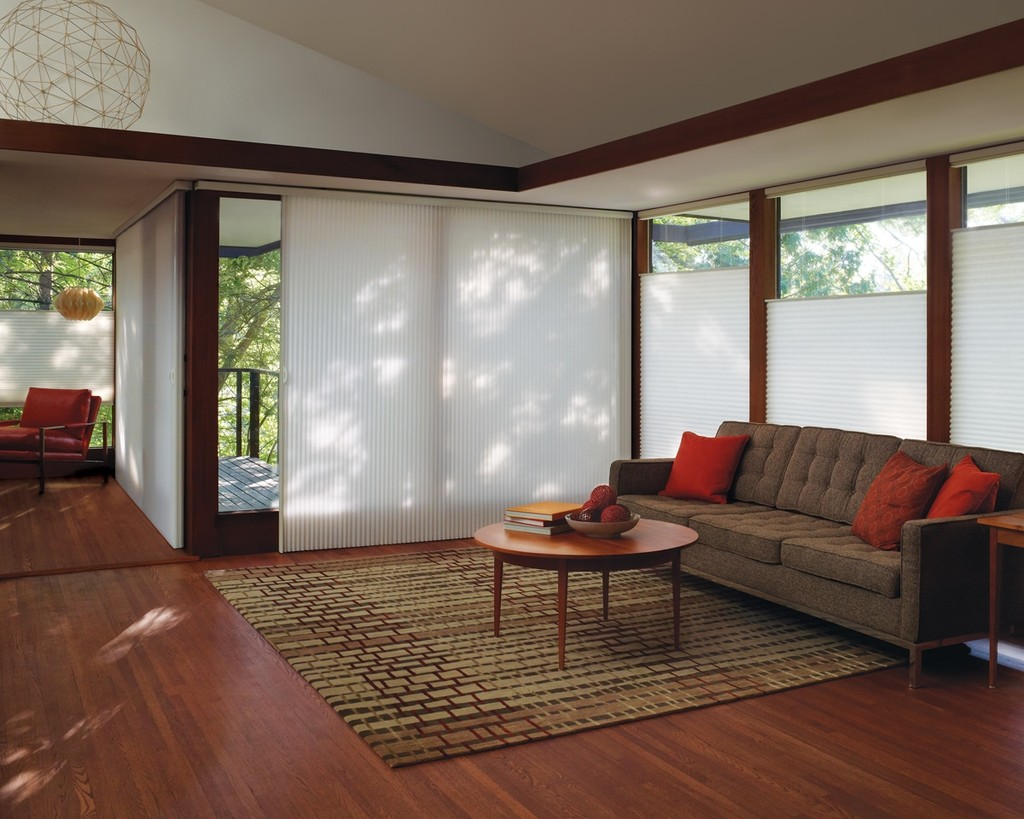 Cellular Shades Living Room Window Shade - Let the soft light filter into your space while keeping the heat out - fabric illuminates space